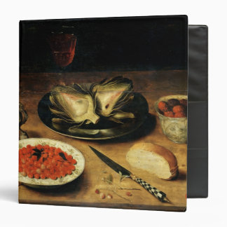 Still Life with an Artichoke 3 Ring Binders
