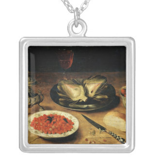Still Life with an Artichoke Silver Plated Necklace