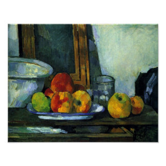 Still-life with an open drawer by Paul Cezanne Poster