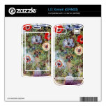 Still Life with Anemones by Claude Monet Decal For The LG Xenon