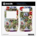 Still Life with Anemones by Claude Monet Skin For The Nokia E71x