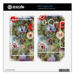 Still Life with Anemones by Claude Monet Skin For HTC Inspire 4G