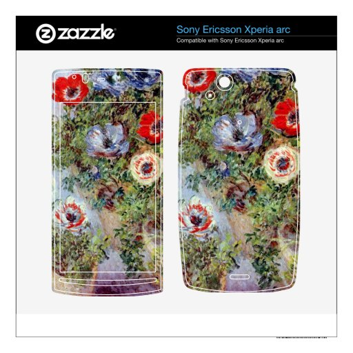 Still Life with Anemones by Claude Monet Xperia Arc Skins