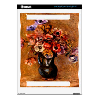 Still life with anemones by Pierre Renoir Xbox 360 Console Skin