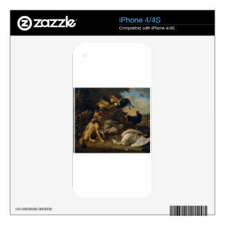Still life with animals by Melchior d'Hondecoeter Decals For iPhone 4