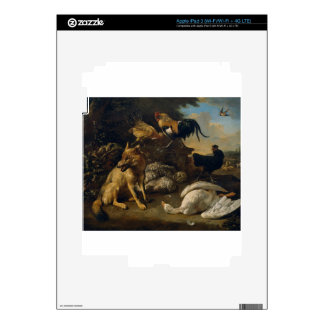 Still life with animals by Melchior d'Hondecoeter iPad 3 Decals