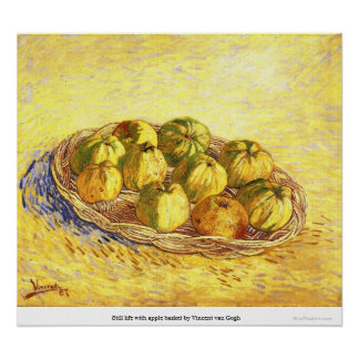 Still life with apple basket by Vincent van Gogh Posters