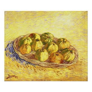 Still life with apple basket by Vincent van Gogh Print