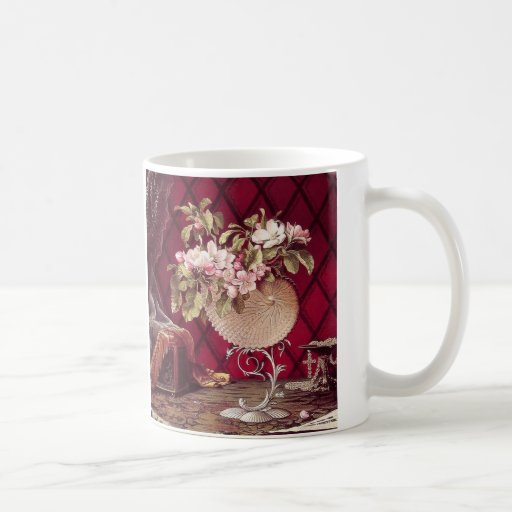 Still Life with Apple Blossoms in a Nautilus Mug