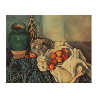 Still Life with Apples, 1893-94 Wood Wall Art