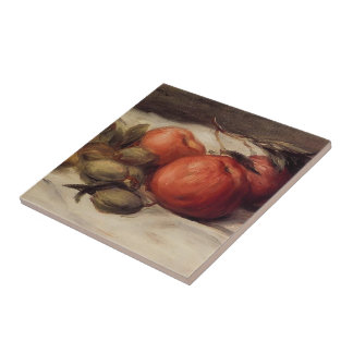 Still Life with Apples, Almonds by Pierre Renoir Ceramic Tile