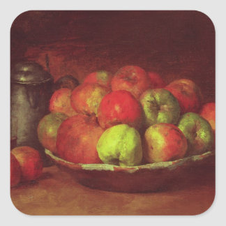 Still Life with Apples and a Pomegranate Square Sticker