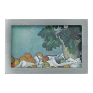 Still Life with Apples and a Pot of Primroses Rectangular Belt Buckle