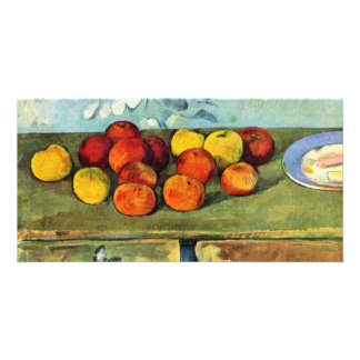 Still Life With Apples And Biscuits By Paul Cézann Photo Greeting Card