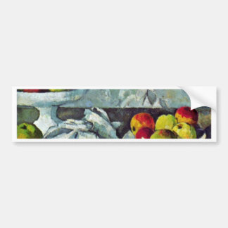 Still Life With Apples And Fruit Bowl Car Bumper Sticker
