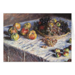 Still Life with Apples and Grapes by Claude Monet Greeting Card