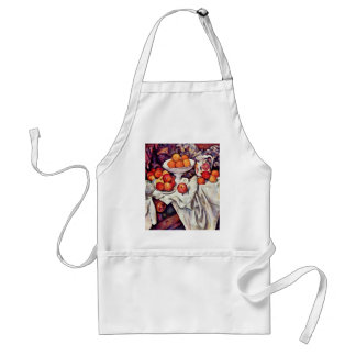 Still Life With Apples And Oranges By Paul Cézanne Adult Apron