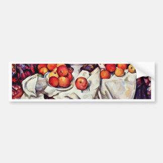 Still Life With Apples And Oranges By Paul Cézanne Car Bumper Sticker