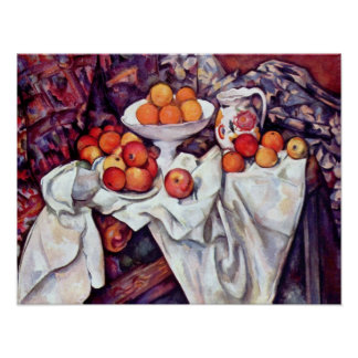 Still Life with Apples and Oranges by Paul Cezanne Poster