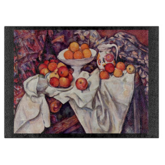 Still Life with Apples and Oranges Cutting Board