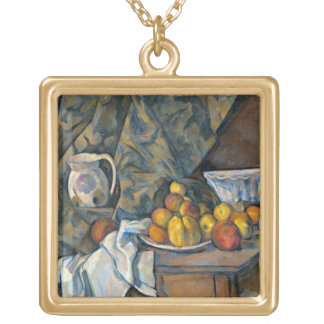 Still Life with Apples and Peaches, c.1905 Gold Plated Necklace