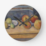 Still Life with Apples and Pears Round Clock