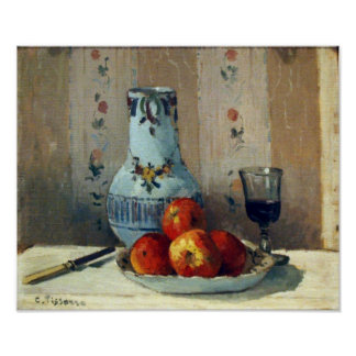 Still Life with Apples and Pitcher - Pissarro Poster