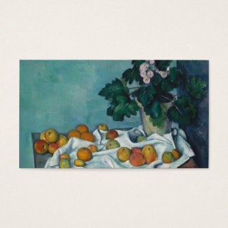 Still Life with Apples and Primroses Paul Cézanne Business Card