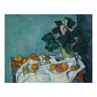 Still Life with Apples and Primroses Paul Cézanne Print