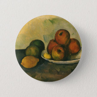 Still Life with Apples by Paul Cezanne Button