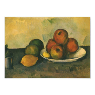 Still Life with Apples by Paul Cezanne Card