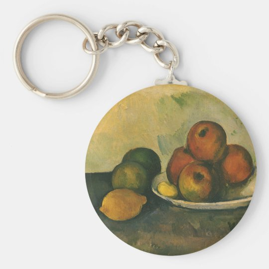 Still Life with Apples by Paul Cezanne Keychain