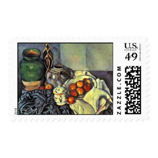 Still Life With Apples By Paul Cézanne Postage Stamp