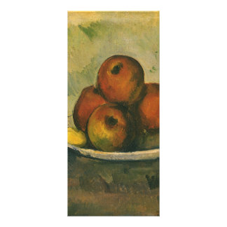 Still Life with Apples by Paul Cezanne Rack Card