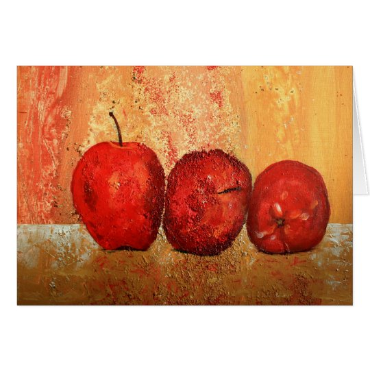 Still life with apples card