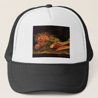 Still Life with Apples, Meat and a Roll - Van Gogh Trucker Hat