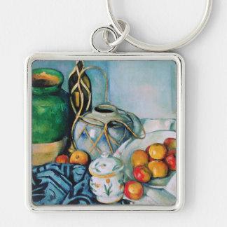 Still Life with Apples, Paul Cézanne Keychain