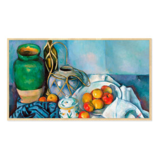 Still Life with Apples  Paul Cézanne painting food Business Card