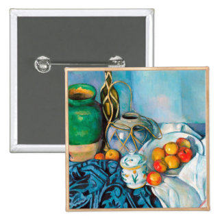 Still Life with Apples  Paul Cézanne painting food Button