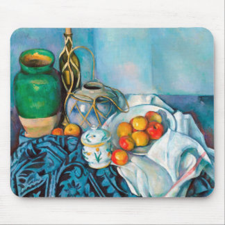 Still Life with Apples  Paul Cézanne painting food Mouse Pad