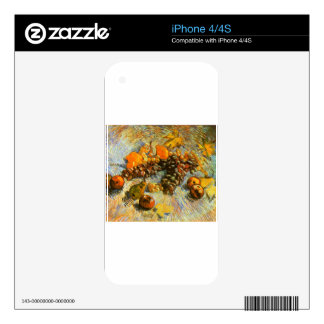 Still Life with Apples, Pears, Grapes - Van Gogh iPhone 4S Skin
