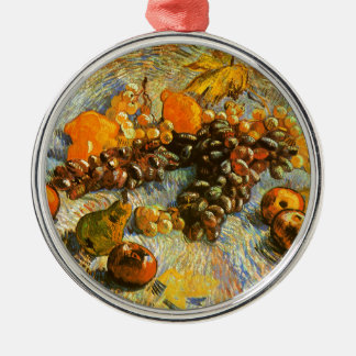 Still Life with Apples, Pears, Grapes - Van Gogh Metal Ornament