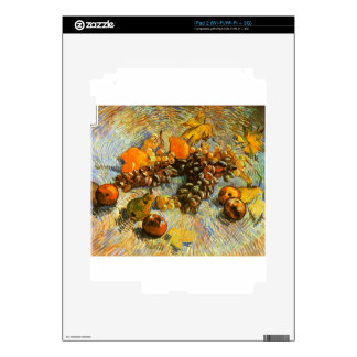 Still Life with Apples, Pears, Grapes - Van Gogh Skin For The iPad 2