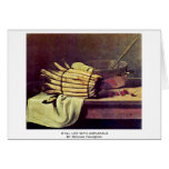 Still Life With Asparagus By Bonvin François Greeting Cards
