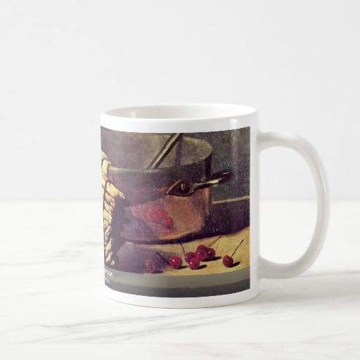 Still Life With Asparagus By Bonvin François Coffee Mugs