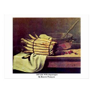 Still Life With Asparagus By Bonvin François Postcard