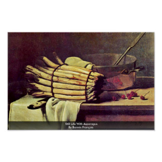 Still Life With Asparagus By Bonvin François Poster