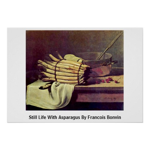 Still Life With Asparagus By Francois Bonvin Poster