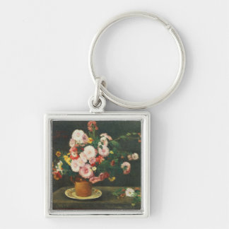 Still life with asters keychain