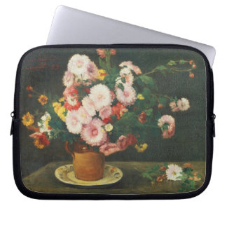 Still life with asters laptop sleeve